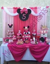 minnie mouse birthday decorations minnie mouse candy buffet by monic s party creations