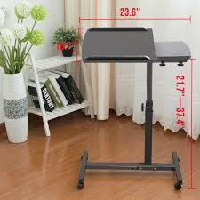 Adjustable Mobile Rolling Laptop Desk by Adjustable Rolling Laptop Table Stand Overbed Desk Tilting Tv Food