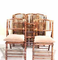five ballard designs inc bamboo folding chairs with cushions ebth five ballard designs inc bamboo folding chairs with cushions