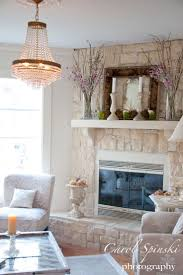 white stone fireplace binhminh decoration
