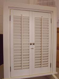 Exterior Wood Louvered Doors by Shuttercraft Interior Shutters