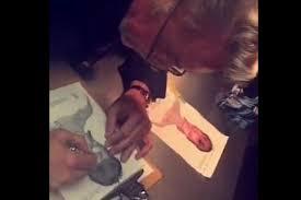 lady gaga gets david bowie face tattoo of iconic aladdin sane