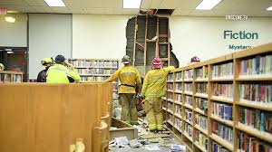 wall library suspected dui driver plows into library in downey hours after