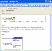 branded email at lettermark email stationery email templates