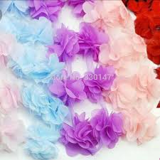 flowers for headbands 2017 wholesale chiffon flowers for headbands wedding decoration
