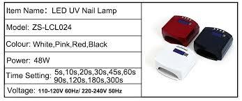 wholesale sun light auto sensor 48w ccfl uv led nail lamp buy
