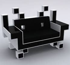 Cool Couches The Space Invaders For Geeky Yet Cool Interior Walyou