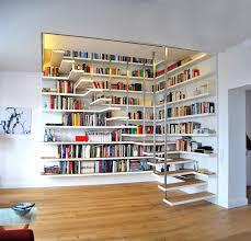 White Bookcase Ideas 50 Creative Ways To Incorporate Book Storage In Around Stairs