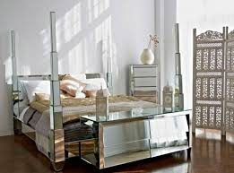 mirrored bedroom furniture cheap white grey colors covered bedding