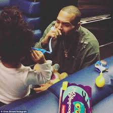 chris brown takes royalty on stage daily mail
