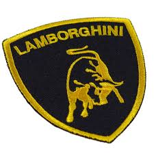 lamborghini logo lamborghini embroidered patch embroidery logo mark emblem racing