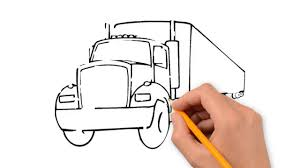 trucks transport the pencil to draw step by step youtube