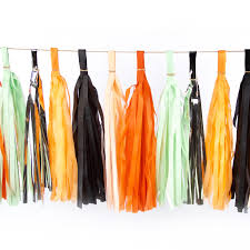 halloween tassels tissue tassels tassel banner birthday party