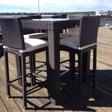 High Patio Chairs Astounding High Top Outdoor Furniture Of Patio Amusing Table