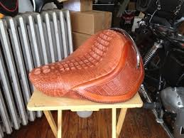 Alligator Upholstery Alligator Hides Prices Custom Made Alligator Motorcycle Seat By