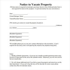 notice to vacate template letter howto billybullock us