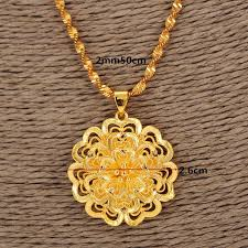womens gold pendant necklace images Women necklace gold necklace flower pendant pendant jewelry a jpg