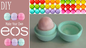 diy make your own eos lip balm recycle old eos container youtube