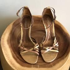 gold tones made in brazil sandals formal size us 7 regular m b