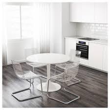White Circle Table by Docksta Table White 105 Cm Ikea