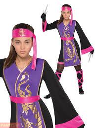 Samurai Halloween Costume Girls Sassy Samurai Costume Childs Teens Ninja Warrior Fancy Dress