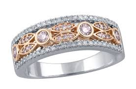 unique fashion rings images Ct tw natural pink and white diamond wink and blink ring in 14k jpg