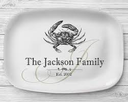 personalized serving trays platters melamine crab platter personalized seafood serving platter