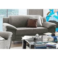 canapé fixe tissu canapé fixe 2 places revêtement tissu chiné gris brun autres
