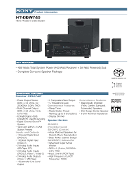 home theater in a box download free pdf for sony ht ddw740 home theater manual