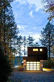 Small Lake House elegant contemporary home cantilever lake house keribrownhomes