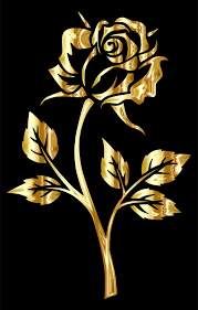 gold roses roses clipart
