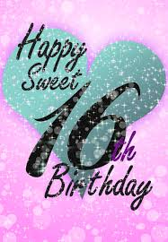 free printable sweet 16 birthday greeting card birthday