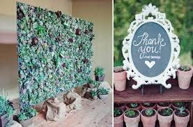 wedding backdrop green wedding backdrop and potted favors