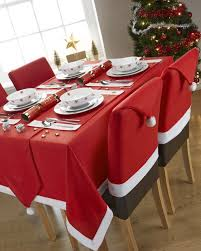 christmas chair back covers 6 8pcs christmas chair covers santa hat dinner table home