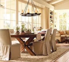 Dining Table Chandelier Veranda Round Chandelier Pottery Barn