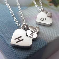 children s initial necklace for and child silver initial necklace by wong