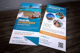 travel agency dl flyer u0026 postcard indesign by jbn comilla
