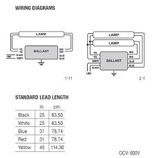 how to wire a 2 l ballast halco 52118 ep240rs mv 2 l 4 t12 fluorescent ballast 120 277