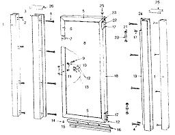 sears sears hinged shower door parts model 392684930 sears