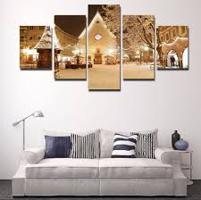 compare prices on framed christmas art online shopping buy low 5 piece canvas art christmas decorative painting modern decorative hd print painting home decor picture painting for home decor