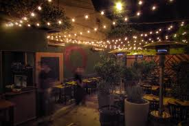 Restaurant String Lights by Here U0027s The Menu For Maré Eric Greenspan U0027s Hidden Patio Only