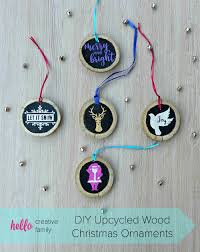 What Does Ornaments Diy Upcycled Wood Ornaments Hello Creative Family