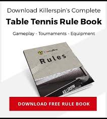 Table Tennis Doubles Rules Official Ping Pong Table Tennis Rules Killerspin