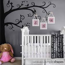 Wall Tree Decals For Nursery Corner Tree Wall Decal Swirly Branch Tree Decal Nursery Tree