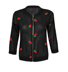 light bomber jacket womens ladies womens light bomber jacket strawberry embroidered vintage