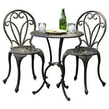 Aluminium Bistro Table And Chairs Aluminum Patio Furniture Target