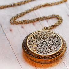photo locket pendant necklace images Shop antique gold locket necklaces on wanelo jpg