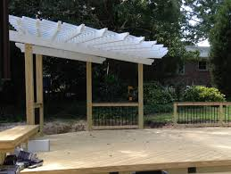 Pergola Corner Designs by Deck And Pergola Combinations Custom Decks Porches Patios