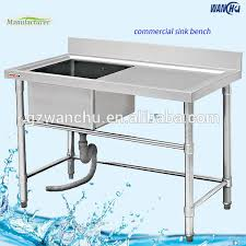 Restaurant Kitchen Sinks Commercial Stainless Steel Sink Bench One Compartment Washing Sink