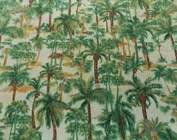Palm Tree Runner Rug Palm Tree Fabric Etsy